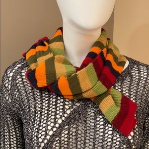 """80.5"""" x 8.5"""" colourful stripped knit scarf"""